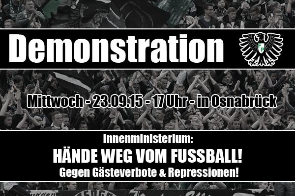 Demonstration: Hände weg vom Fußball! Gegen Gästeverbote und Repressionen!