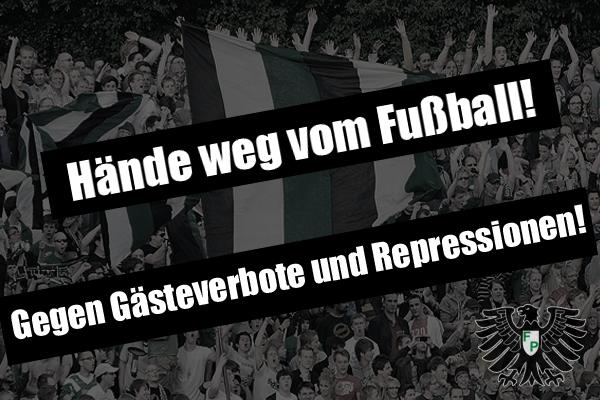 Hände weg vom Fußball! Gegen Gästeverbote und Repressionen!