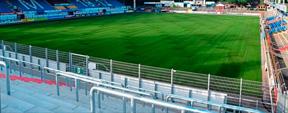 Mundlöcher im Stadion Aue