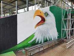 Mundlöcher im Stadion Essen